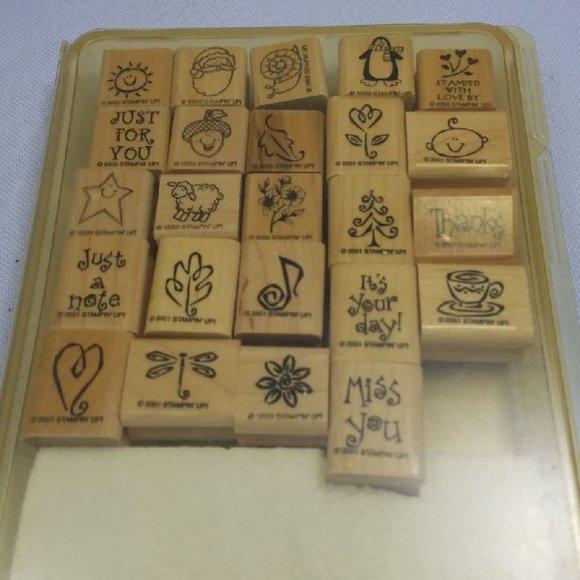 Vtg Stampin' Up! Scrapbooking Stamp Set Variety